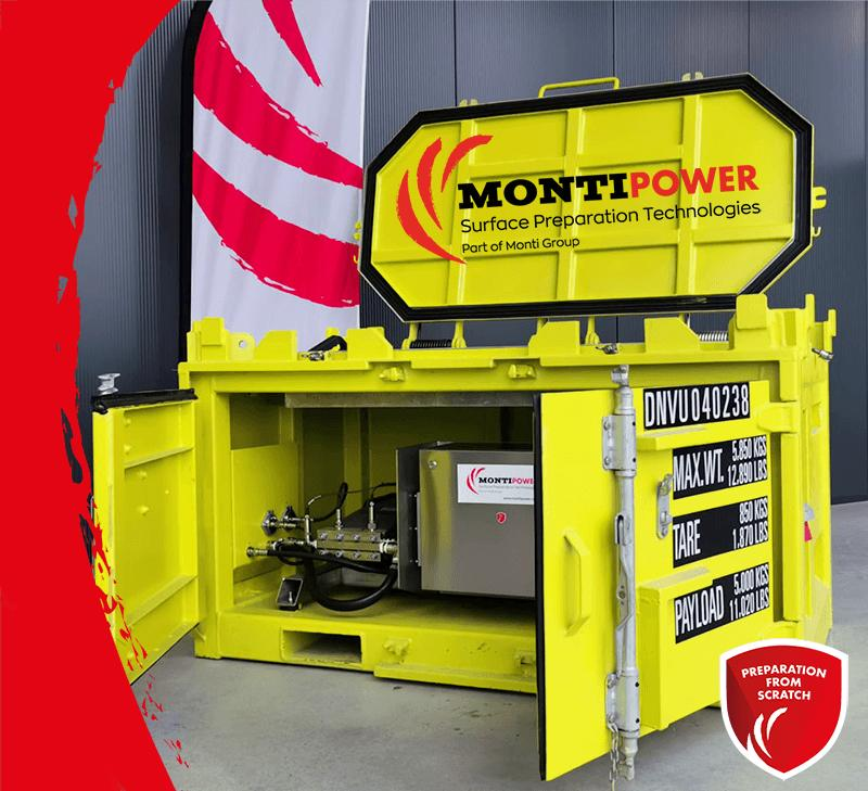 MONTIPOWER OFFSHORE DNV CERTIFIED CONTAINER BRISTLE BLASTER