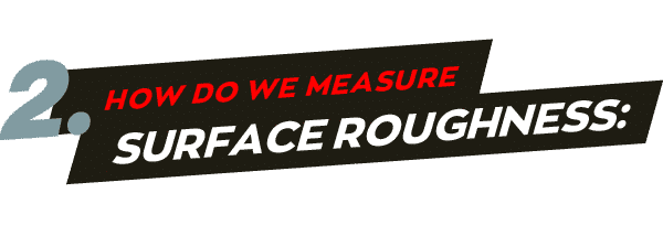 How do we measure surface roughness